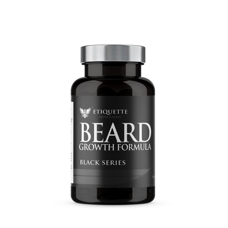 Hairbond® Etiquette - Black Series - Beard (30x Majestic Beard Growth Capsules)