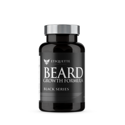 Hairbond Etiquette - Black Series - Beard (30x Majestic Beard Growth Capsules)