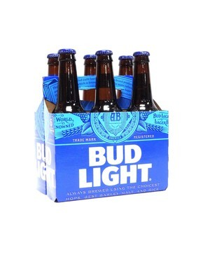 Bud Light 6pk/12oz Bottles (F18-2)H