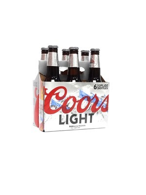 Coors Light 6pk/12oz Bottles (F18-3)C