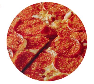 Extra Pepperoni Pizzeria Style Medium Pizza