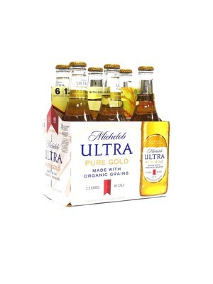 Michelob Ultra Pure Gold 6pk/12oz Bottles (F17-1)
