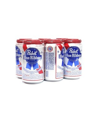 Pabst Blue Ribbon 12oz 6pk Can (F18-4)c