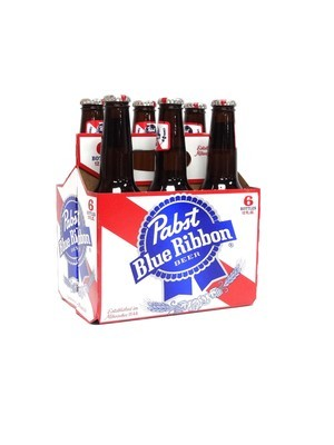 Pabst Blue Ribbon 12oz 6pk Bottle (F18-5)c