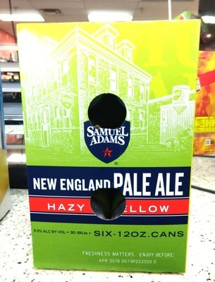 New England Pale Ale By Samuel Adams From Boston, MA 12oz 6pk Can (F10-4)C