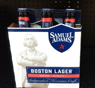 Boston Lager By Samuel Adams From Boston, MA 12oz 6pk Bottle (F10-4) C
