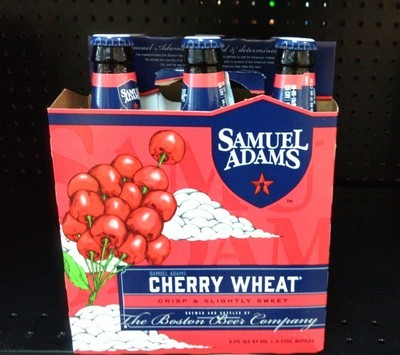 Cherry Wheat By Samuel Adams From Boston, MA 12oz 6pk Bottle (F10-4) C