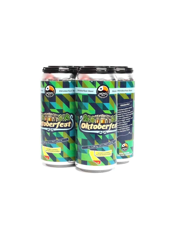 Oktoberfest by Novo Brazil Brew from San Diego, CA 16oz 4pk Can (E8-4)BC