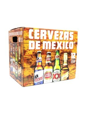 Cervezas De Mexico Variety Pk 12oz 12pk Bottle () C