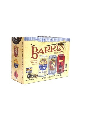 Variety Pk (Citra IPA, Blonde Ale,  Amber Ale) by Barrio from Tucson, AZ 12oz 12pk Can ( )H
