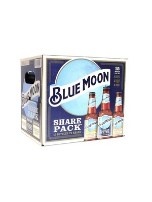 Variety Pk Pacific Honey, Belgian White, Mango Wheat By Blue Moon from Golden, CO 12oz 12pk Bottle (F5-7)C