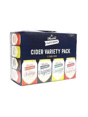 Cider Variety Pk By Austin Eastciders From Austin, TX 12oz 12pk Can ()H
