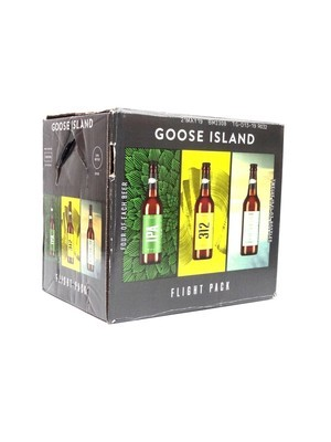 Flight Pk (IPA, 312 Urban Wheat Ale, C&LM Cucumber Lime Radler) by Goose Island from Chicago, IL 12oz 12pk Bottle ()H