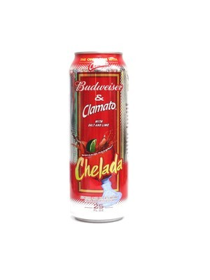 Budweiser & Clamato With Salt And Lime Chelada 25oz  (F16-4)