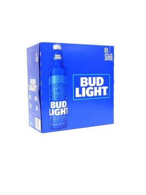 Bud Light Aluminum Bottles 8pk/16oz (F17-2)