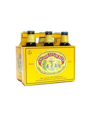 Anchor Steam Beer by Anchor Brew from San Francisco, CA 12oz 6pk Bottle (F7-8) C