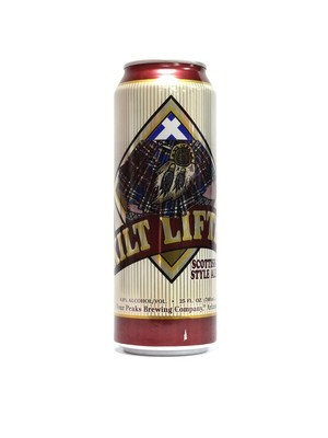 Kilt Lifter Scottish Style Ale by Four Peaks Brew from Tempe, AZ 24oz Single Can (F3-4)H