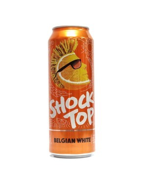 Belgian White By Shock Top from St.Louis, MO 25oz Single Can (F3-4) H
