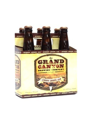 Sunset Amber Ale 12oz 6pk Bottle by Grand Canyon brewing (F6-2)C