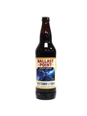 Victory At Sea Imperial Porter Coffee & Vanilla By Ballast Point Brew from San Diego, CA 22oz Single Bottle (F3-7) C