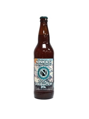 Total Domination IPA By Ninkasi Brew from Eugene, OR 22oz Single Bottle (F3-5) H