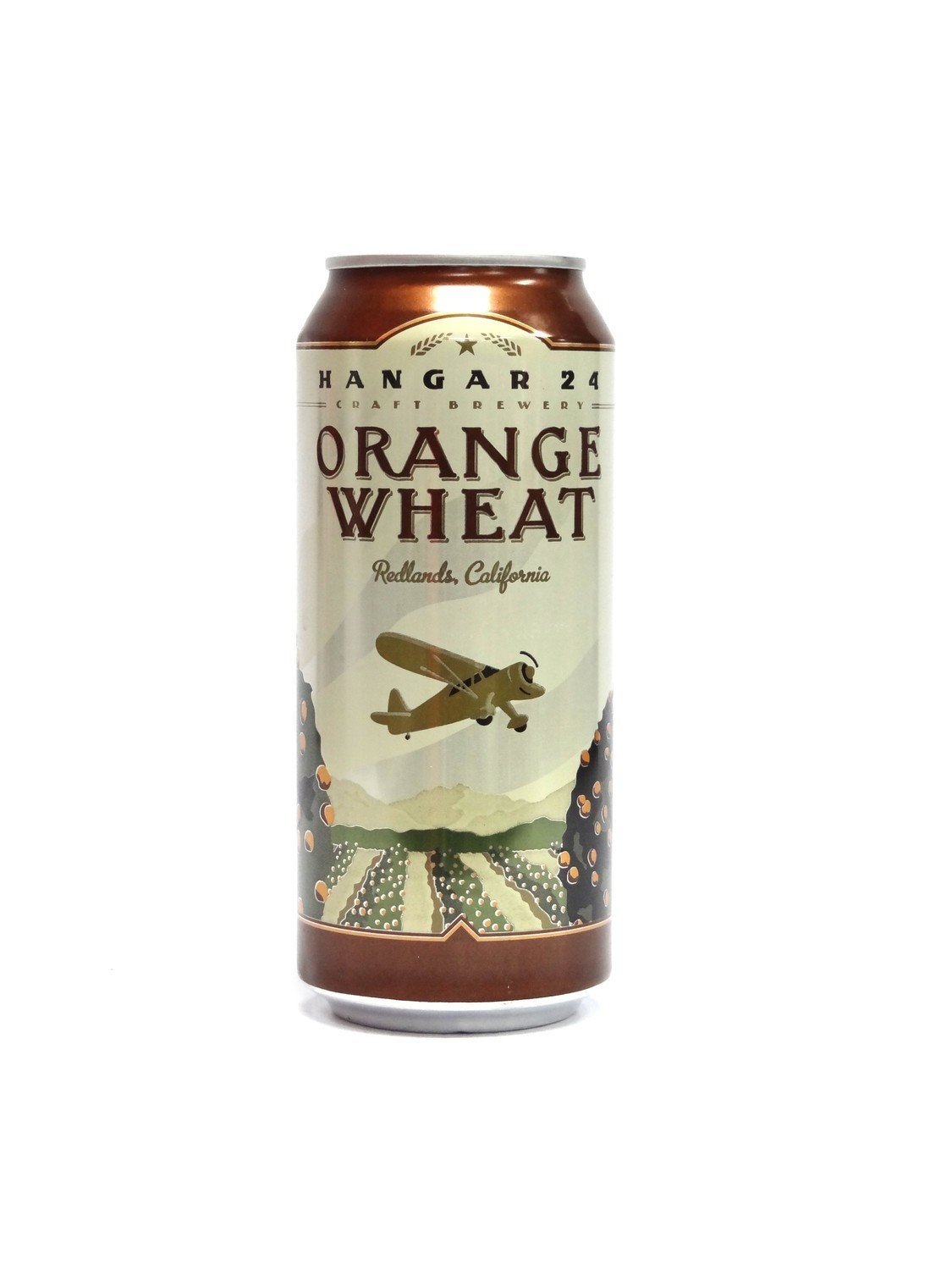 Orange Wheat By Hangar 24 from Redlands, CA 16oz Single Can (F2-6)