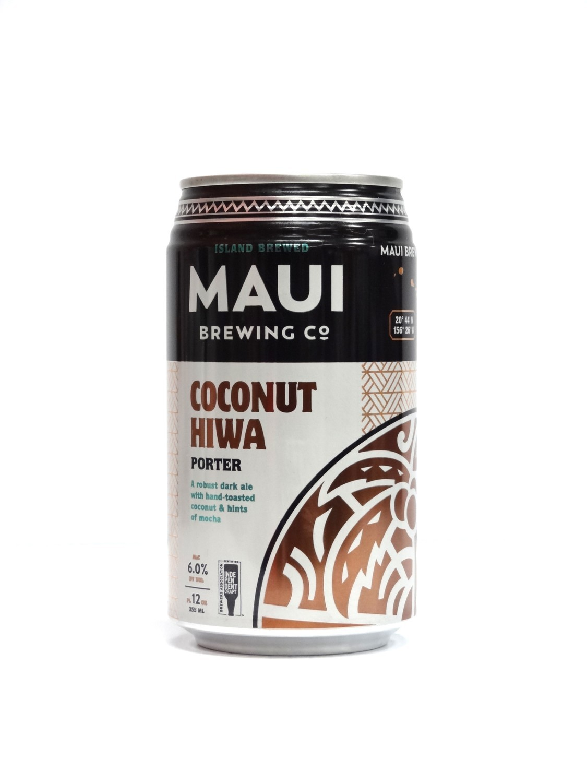 Coconut Hiwa Porter By Maui Brew from Maui, Hawaii 12oz Single Can (F1-4)8