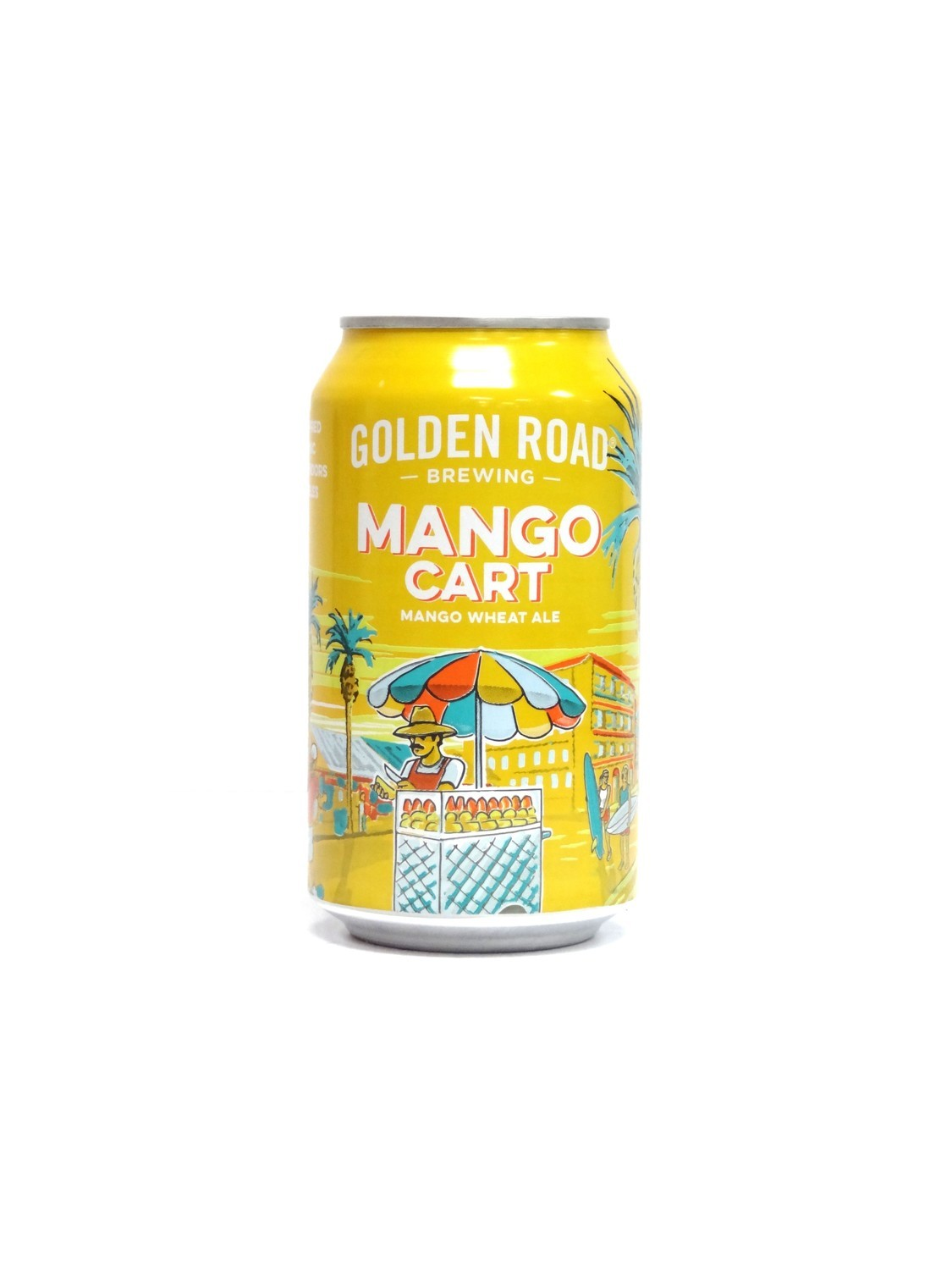 Mango Cart By Golden Road Brew from Los Angeles, CA 12oz Single Can (F2-1) H