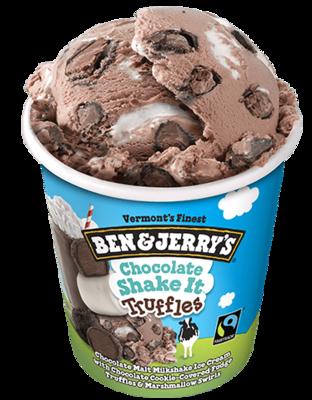 Ben & Jerry's Chocolate Shake It Truffles Ice Cream 1pint