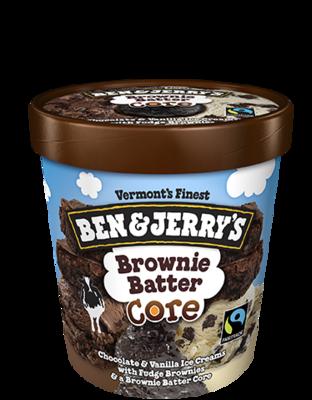 Ben & Jerry's Brownie Batter Core Ice Cream 1pint