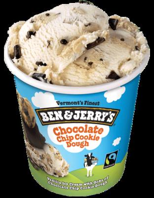 Ben & Jerry's Chocolate Chip Cookie Dough Ice Cream 1pint