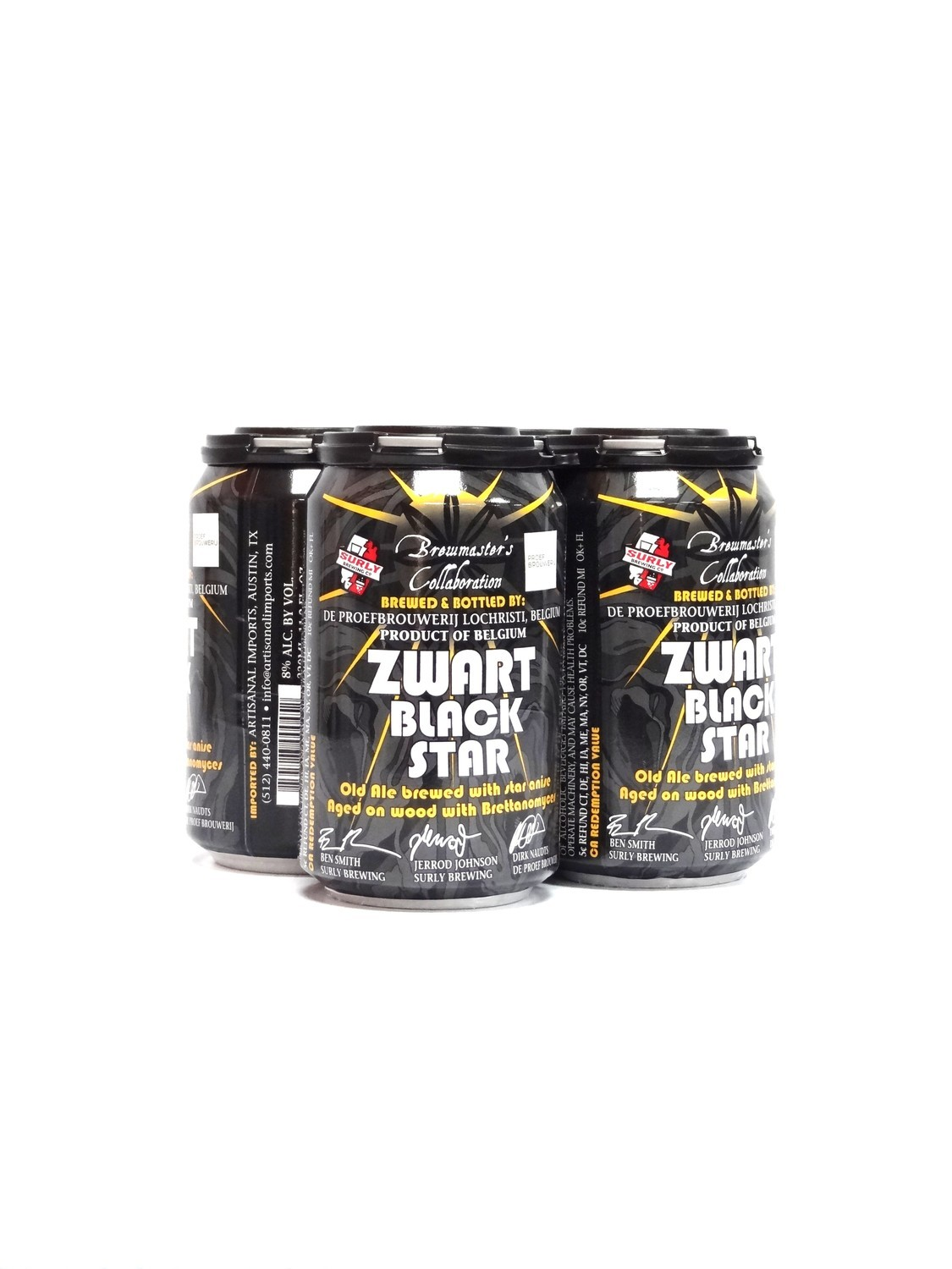 Zwart Black Star by Brewmasters collaboration Belgium product 12oz 4pk (F5-3)2