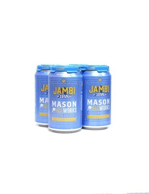 Jambi West Coast IPA by Mason Ale Works Brew from San Diego, CA 12oz 4pk Can (R)BC