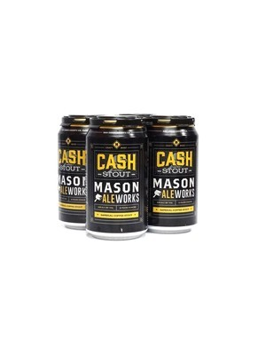 Cash Imperial Coffee Stout by Mason Ale Works Brew from San Diego, CA 12oz 4pk Can (R)BC