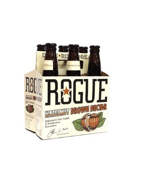 Hazelnut Brown Nectar by Rogue Ales from Newport, OR 12oz 6pk Bottle (F10-8)H