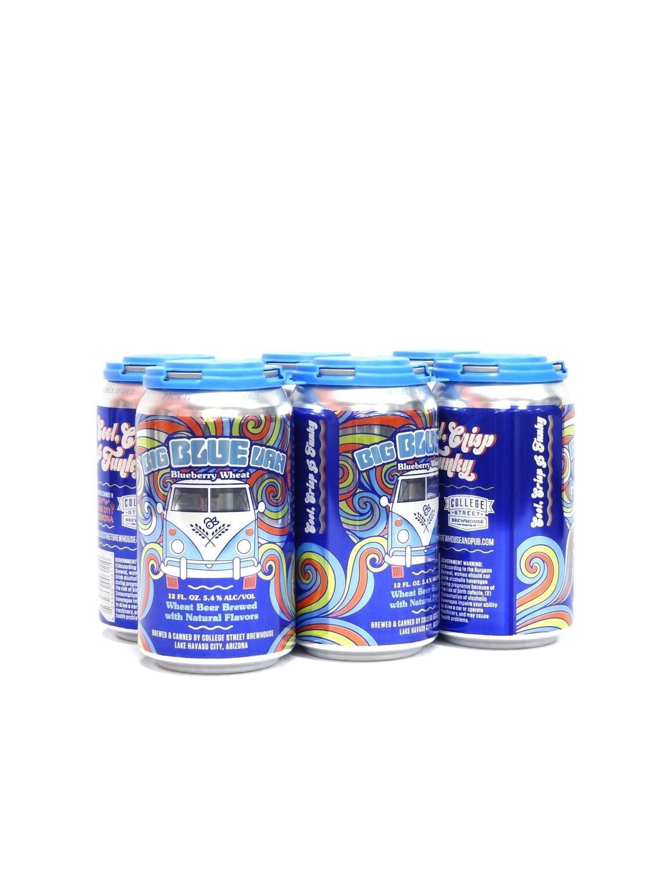 Big Blue Van Blueberry Wheat 6pk/12oz By College Street Brewhouse (F6-3)C
