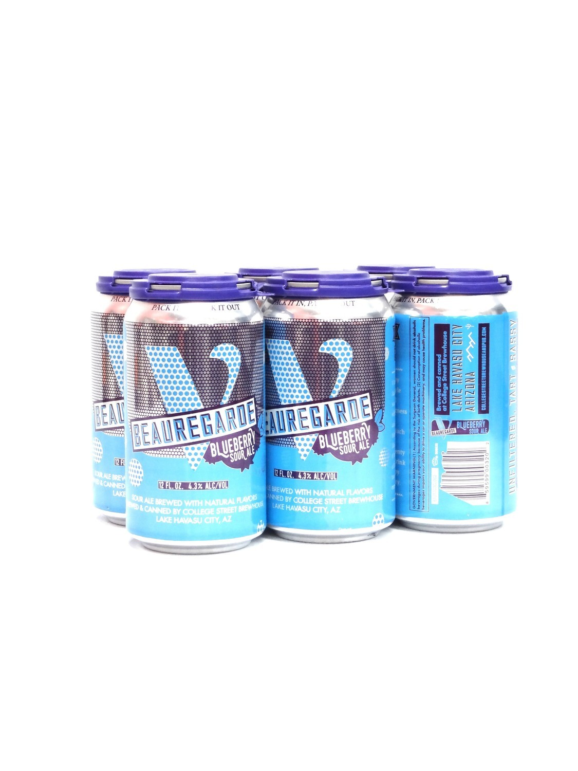 Beauregarde Blueberry Sour Ale 6pk/12oz By College Street Brewhouse (F6-3)C