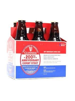 Guinness 200th Anniversary Export Stout 12oz 6pk Bottle (F4-7)C