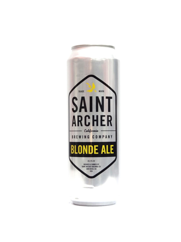 Blonde Ale By Saint Archer from San Diego, CA 19.2oz Single Can (F3-2)C