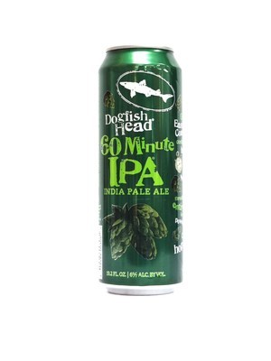 60min IPA by Dogfish Head from Milton, Delaware 19.2oz Single Can (F3-2)C