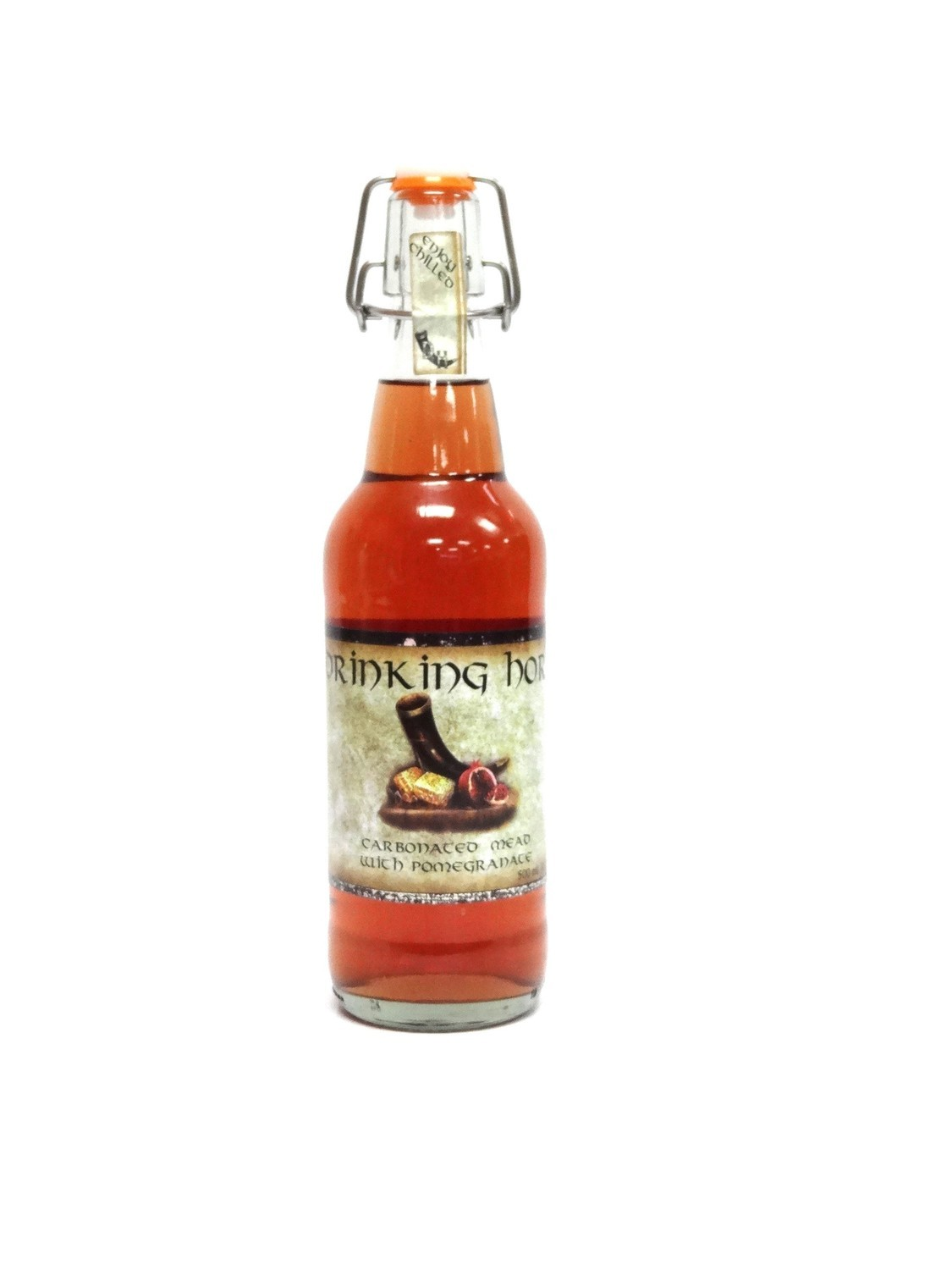 Pomegranate Carbonated Mead By Drinking Horn Meadery From Flagstaff, AZ 500ml Bottle ()DH