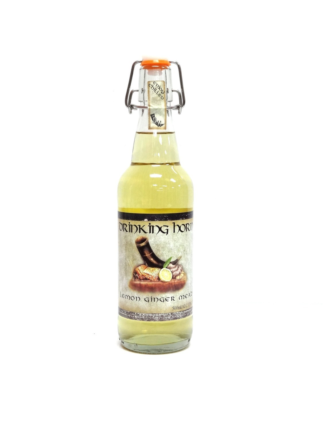 Lemon Ginger Mead By Drinking Horn Meadery From Flagstaff, AZ 500ml Bottle ()DH