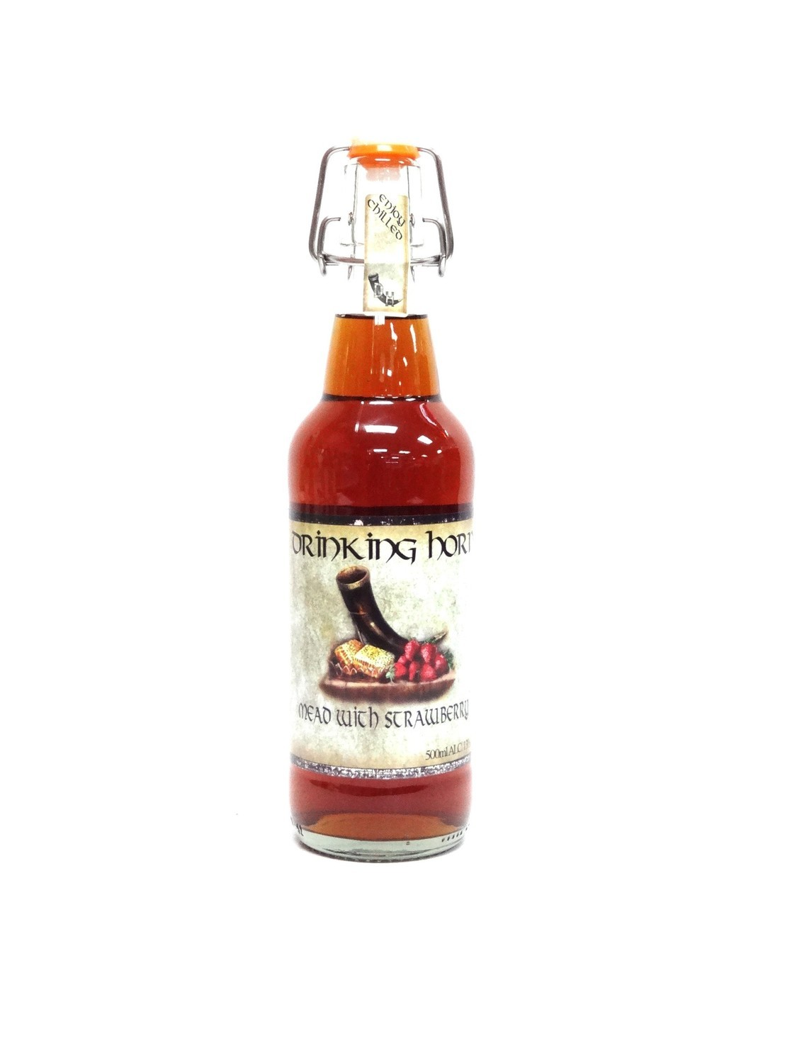 Strawberry Mead By Drinking Horn Meadery From Flagstaff, AZ 500ml Bottle ()DH