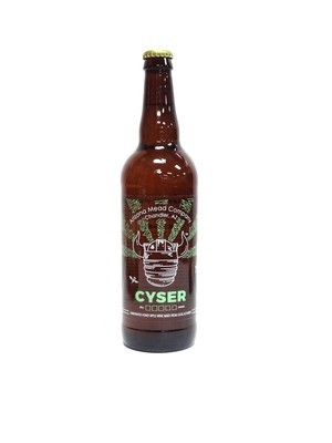 Cyser Green Apple, Carbonated Honey Apple Wine Made From Honey By Arizona Mead Company Of Chandler, AZ ()AMC