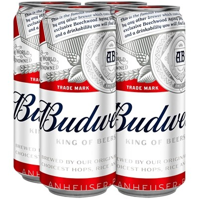 Budweiser 4pk/16oz Cans (F16-1)