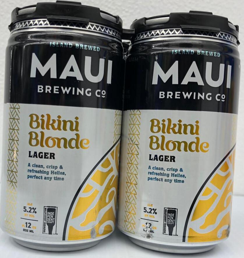 Bikini Blonde Lager By Maui Brew from Maui, Hawaii 12oz 4pk Can ()8