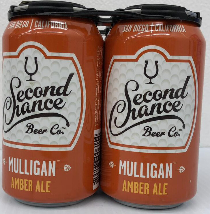 Mulligan Amber Ale By Second Chance Brew From San Diego, CA 12oz 4pk Can () ABC