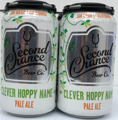 Clever Hoppy Name Pale Ale By Second Chance Brew From San Diego, CA 12oz 4pk Can ()ABC