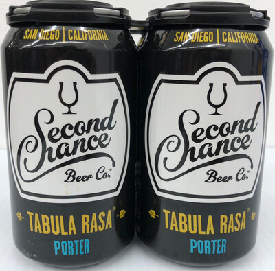 Tabula Rasa Porter By Second Chance Brew From San Diego, CA 12oz 4pk Can () ABC