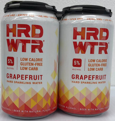 HRD WTR 5% Alcohol Grapefruit Hard Sparkling Water By Mia Beer Company From Miami, FL 12oz 4pk Can () BC